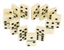 De beenderen van de domino Royalty-vrije Stock Afbeeldingen
