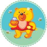 De beer die van honing houdt Royalty-vrije Stock Fotografie