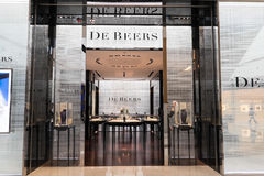 De Beers fashion boutique display window. Hong Kong Royalty Free Stock Photos
