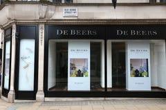 De Beers shop Stock Image