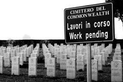 De begraafplaats van de Commonwealth Stock Foto
