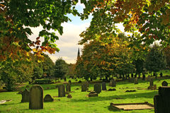 De begraafplaats van de herfst Stock Afbeelding