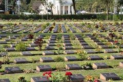 De Begraafplaats van de Kanchanaburioorlog Stock Afbeeldingen