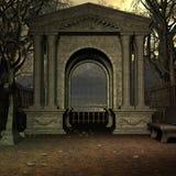 De Begraafplaats van de mysticus stock illustratie