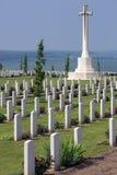 De Begraafplaats van de oorlog - de Somme - Frankrijk Royalty-vrije Stock Foto's