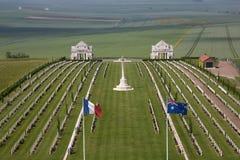 De Begraafplaats van de oorlog - de Somme - Frankrijk Stock Afbeeldingen