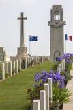 De Begraafplaats van de oorlog - de Somme - Frankrijk Royalty-vrije Stock Afbeelding