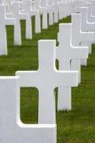De Begraafplaats van de oorlog - La Somme - Frankrijk Stock Foto