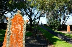 De Begraafplaats van de Symondsstraat in Auckland Nieuw Zeeland Stock Foto's