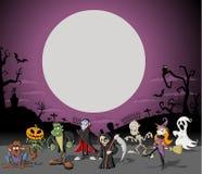 De begraafplaats van Halloween vector illustratie