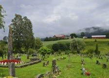 De Begraafplaats van Heddal stock foto