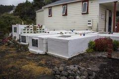 De begraafplaats van het Maoridorp royalty-vrije stock foto