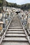 De Begraafplaats van Higashiotani Stock Fotografie
