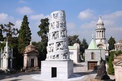 De begraafplaats van Milaan stock afbeelding