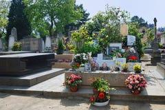 De begraafplaats van Montparnasse - Graf van Serge Gainsbourg Stock Foto's
