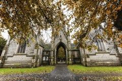 De Begraafplaats van Newark, Road Nottinghamshire het UK van Londen in de Herfst Stock Fotografie