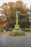 De Begraafplaats van Newark, Road Nottinghamshire het UK van Londen in de Herfst Stock Afbeelding