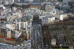 De begraafplaats van Parijs Stock Afbeelding
