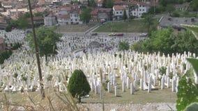 De begraafplaats van Sarajevo stock video
