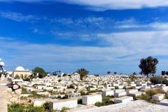 De Begraafplaats van Sidi Gr-Mezeri in Monastir, Tunesië royalty-vrije stock afbeelding