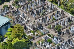 De Begraafplaats van Tokyo van hierboven Royalty-vrije Stock Fotografie