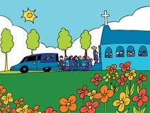De begrafenis Gebeurtenis van de Dienst stock illustratie