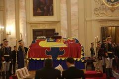 De begrafenis van Koning Michael I van Roemenië stock afbeelding