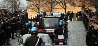 De begrafenis van Vaclav Havel Royalty-vrije Stock Foto's