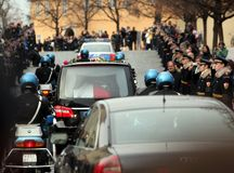De begrafenis van Vaclav Havel Stock Foto's