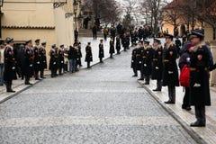De begrafenis van Vaclav Havel Stock Afbeeldingen