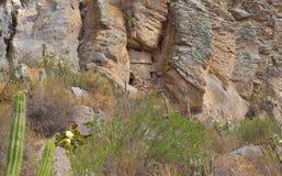 De begrafeniscentra, bouwden op rots voort Stock Afbeeldingen