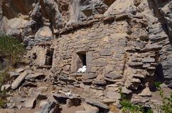 De begrafeniscentra, bouwden op rots voort Royalty-vrije Stock Foto's