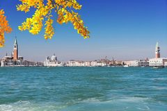 De Begroeting van della van Santa Maria van de basiliek, Venetië, Italië stock foto