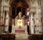 De begroetingsbasiliek van Santa Maria del Royalty-vrije Stock Foto
