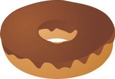De behandelde doughnut van de chocolade suikerglazuur Royalty-vrije Stock Foto's
