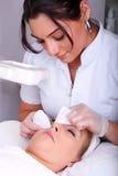 De behandeling van de huid stock foto