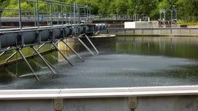 De Behandeling van het afvalwater Stock Foto