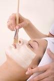 De behandeling van Skincare Stock Afbeeldingen