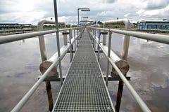 De behandelingsinstallatie van het water Stock Fotografie