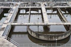 De behandelingsinstallaties van het afvalwater. Royalty-vrije Stock Foto's