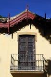 De beheerders huisvesten balkon bij de Botanische Tuinen, Malaga royalty-vrije stock afbeelding