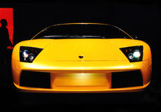 De Behoefte van de Macht van de Auto van Lamborghini aan Snelheid Stock Fotografie
