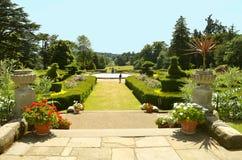 De behoudende tuin van Warwick Castle Stock Foto's