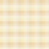 De beige achtergrond van de geruit Schots wollen stofplaid Stock Foto's