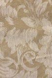 De beige BloemenStof Patte van de Toon Stock Foto