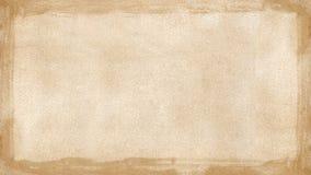 De beige bruine geweven achtergrond Power Point w van de grunge retro grens Stock Foto's