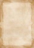 De beige bruine geweven achtergrond Power Point w van de grunge retro grens Stock Afbeeldingen