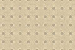 De beige cirkels van het behang Stock Fotografie