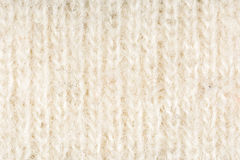 De beige en witte wollen achtergrond van de stoffentextuur, sluit omhoog Royalty-vrije Stock Foto's