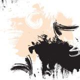 De beige illustratie van de kleurenkwaststreek Vectorgrunge abstracte elementen Creatieve inktelementen Helder dynamisch minimaal vector illustratie